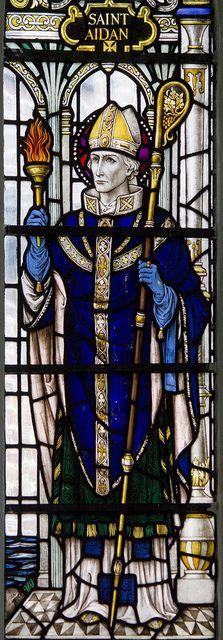 St Aidan of Lindisfarne by Lawrence OP, via Flickr