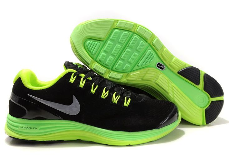 nike free run+ 2 mens shoes black\/volt skull