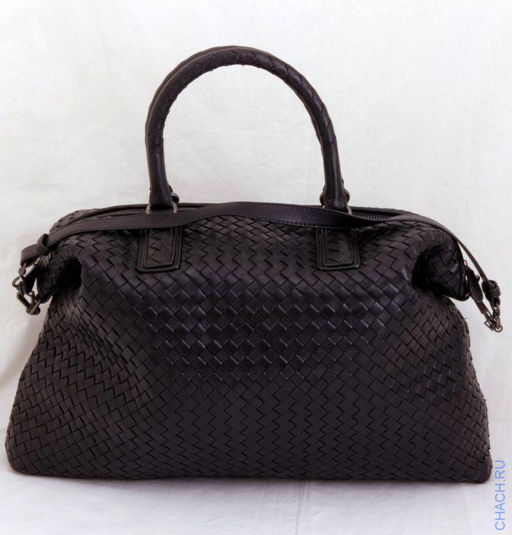 Сумка Bottega Veneta черная плетеная из натуральной кожи