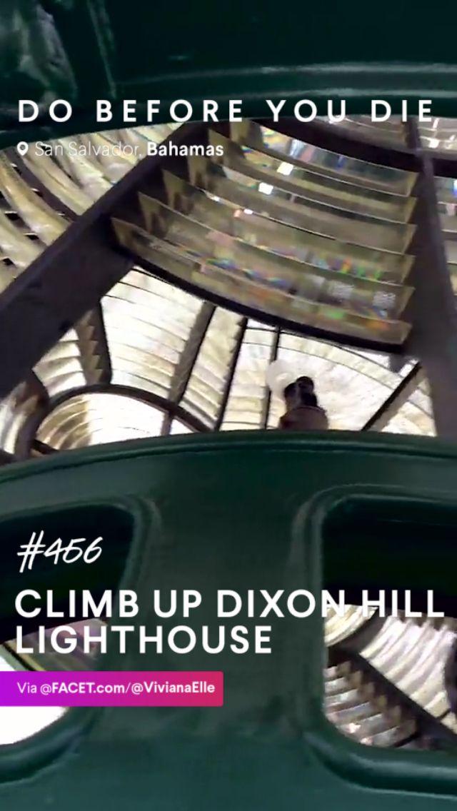 #456 climb up Dixon hill lighthouse at San Salvador Island in the Bahamas