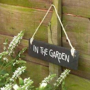 Letrero jardín