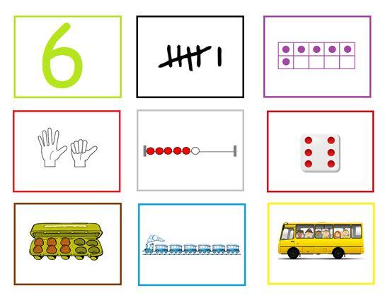 Cijferkaart 6: Met deze cijferkaarten kun je veel rekenactiviteiten doen in de groep. Ze kunnen heel goed gebruikt worden bij de digibordles: http://digibordonderbouw.nl/index.php/lessen/rekenen/telenzoek112