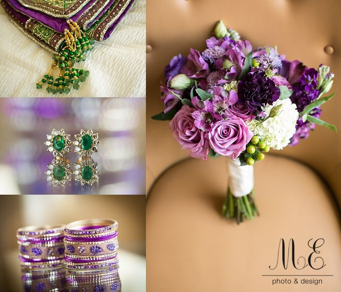 Hotel du Pont Wedding | Wilmington, DE | Aarti and Ajay | Gorgeous Purple Wedding Details | Documentary Wedding Photography |  #phillyphotog #mephotodesign #stylemepretty #documentaryweddings #weddingdetails #purple #violet #bouquetandaccessories