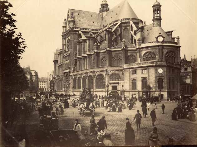 Eglise Saint-Eustache Paris avant 1880