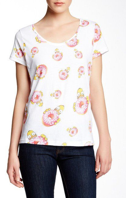 Pin for Later: 27 Sugary-Sweet Pieces For Girls Who Want All the Candy ELEVENPARIS Homer Donut Tee ELEVENPARIS Homer Donut Tee ($30, originally 73)