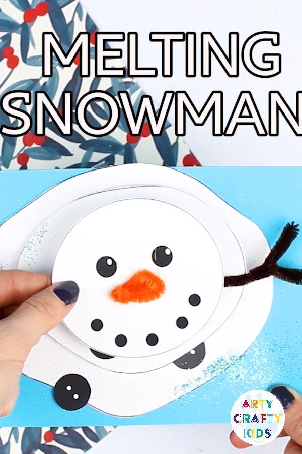 Melting Snowman Paper Craft