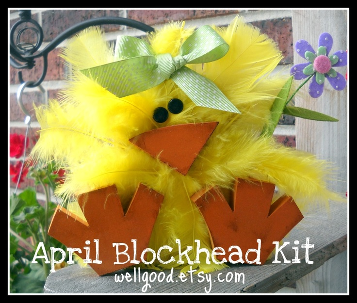 So cute!! Would LOVE to make this for spring!!   Craft Goodies: 2x4 Spring Chick Tutorial