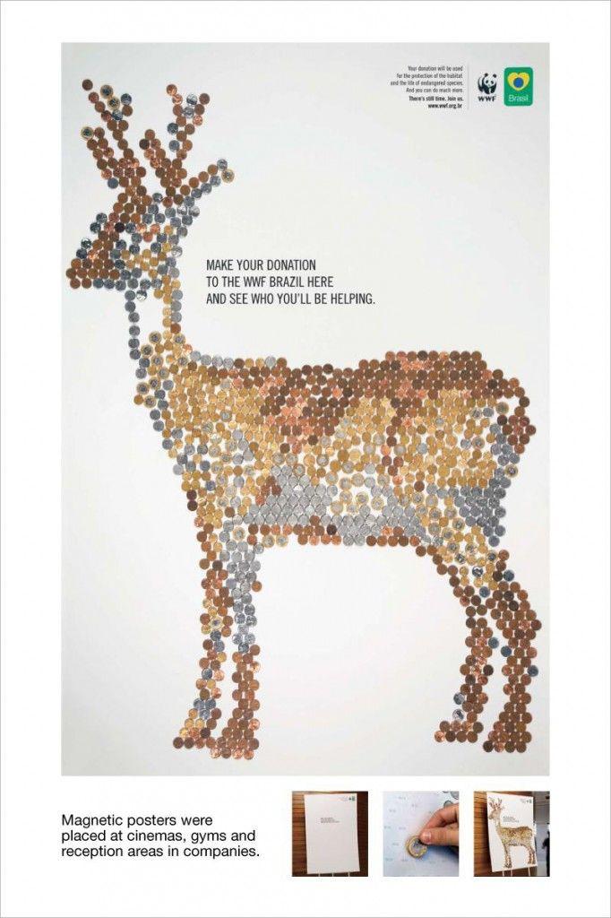 「寄付した効果」が「寄付した人の手」であらわになる磁気ポスター | AdGang