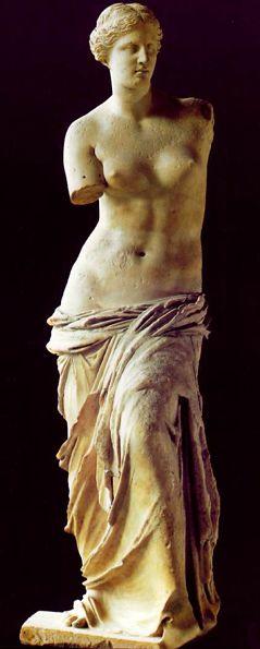 Venus de Milo  Parian marble,  150-120 bc.  Musee du Louvre, Paris