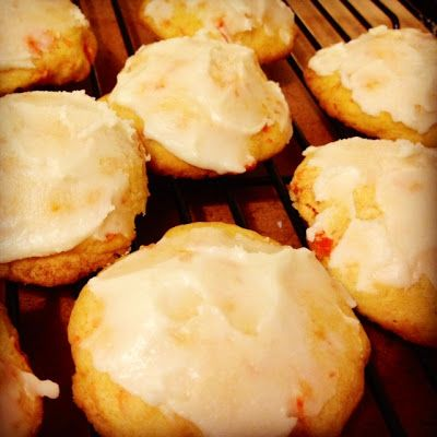GRANDMA'S CARROT COOKIES WITH ORANGE BUTTER ICING