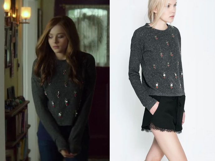 Mia Hall Chloe Grace Moretz Wears This Dark Grey Embellished