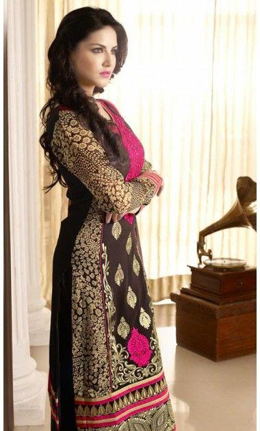 Sunny Leone Lush Black Salwar Kameez