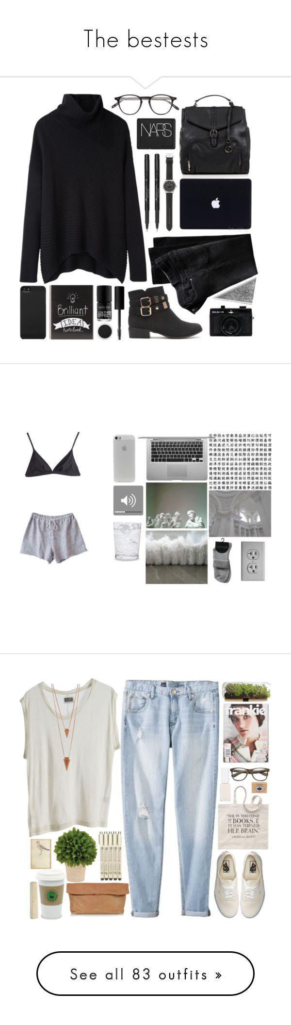 """""""The bestests"""" by running-away-for-adventures ❤ liked on Polyvore featuring Helmut Lang, Black Poppy, J.Crew, Garrett Leight, Betty Jackson, Faber-Castell, Incase, NARS Cosmetics, Nails Inc. and Calypso St. Barth"""