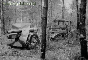 Polska armata wz.78/09/31 porzucona w lesie. Armata na kołach dużych Michelin, przystosowana do trak… - zdjęcie 9 z 13 | zdjęcia dobroni.pl