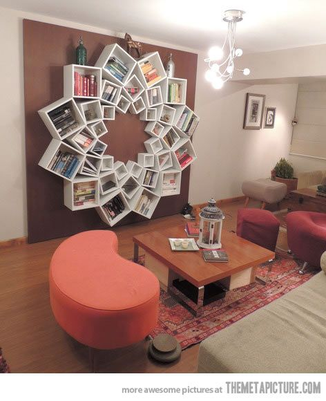Awesome Bookshelf Idea …