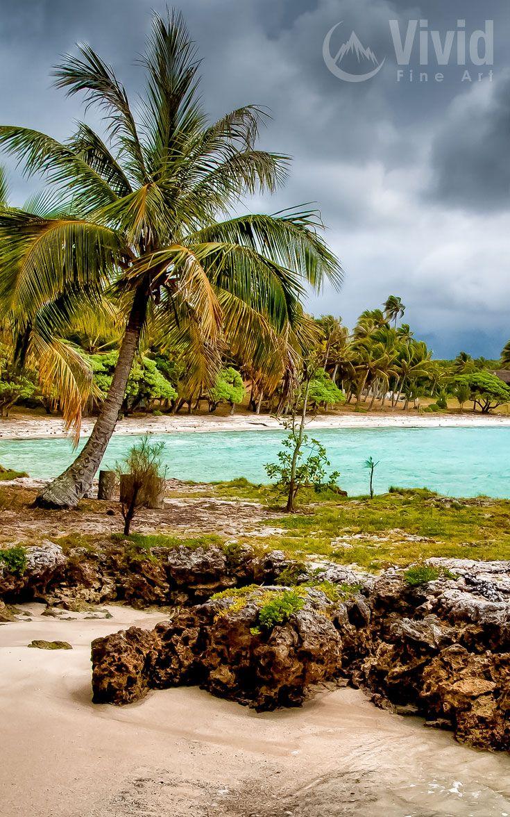 Tropical beach on the island of Lifou in New Caledonia