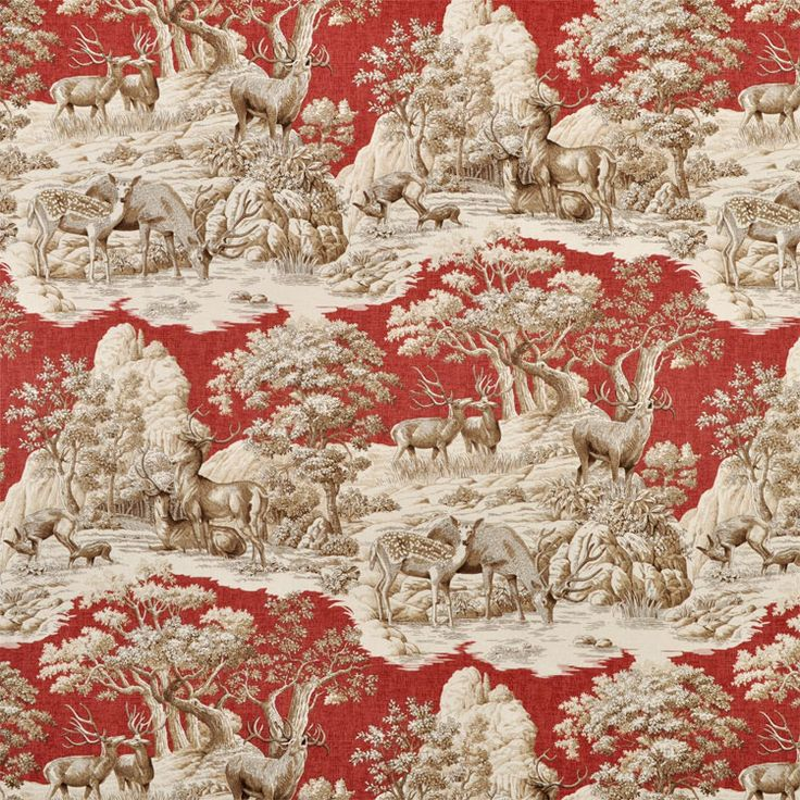 Decorating Ideas Toile Fabric: Braemore Ferguson Garnet Fabric