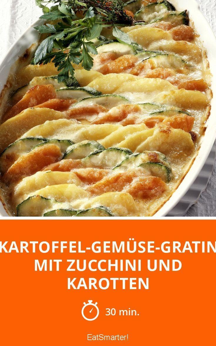 Kartoffel-Gemüse-Gratin mit Zucchini und Karotten - smarter - Zeit: 30 Min. | eatsmarter.de