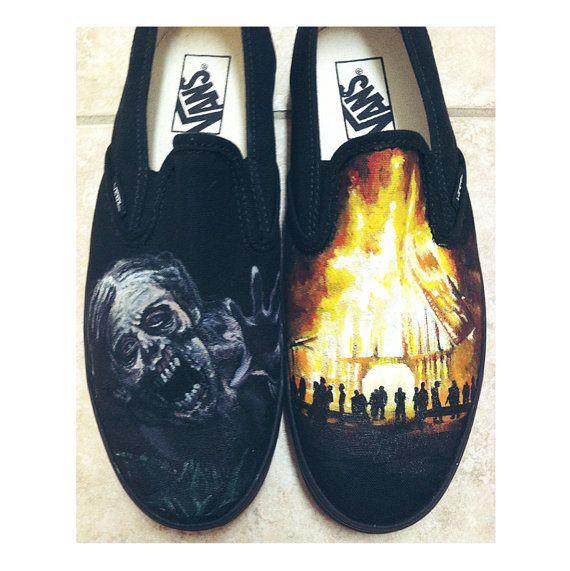 Custom chaussures peintes par KTsCustomKicks sur Etsy