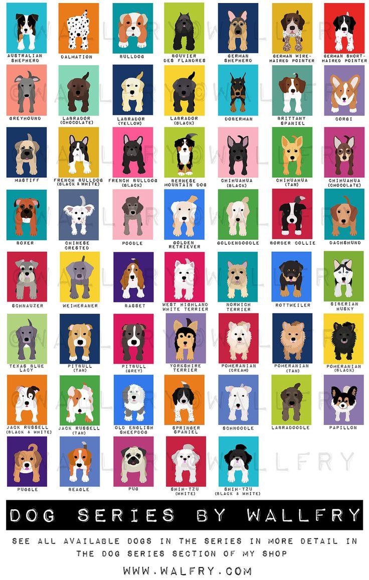 Dog prints Dog Art. Puppy nursery art prints Any 4 8x10. Baby nursery decor kids art. Kids wall art. Kids decor, puppy dogs by WallFry. $47.00, via Etsy. CAN CHOOSE BACKGROUND COLOR, Key!