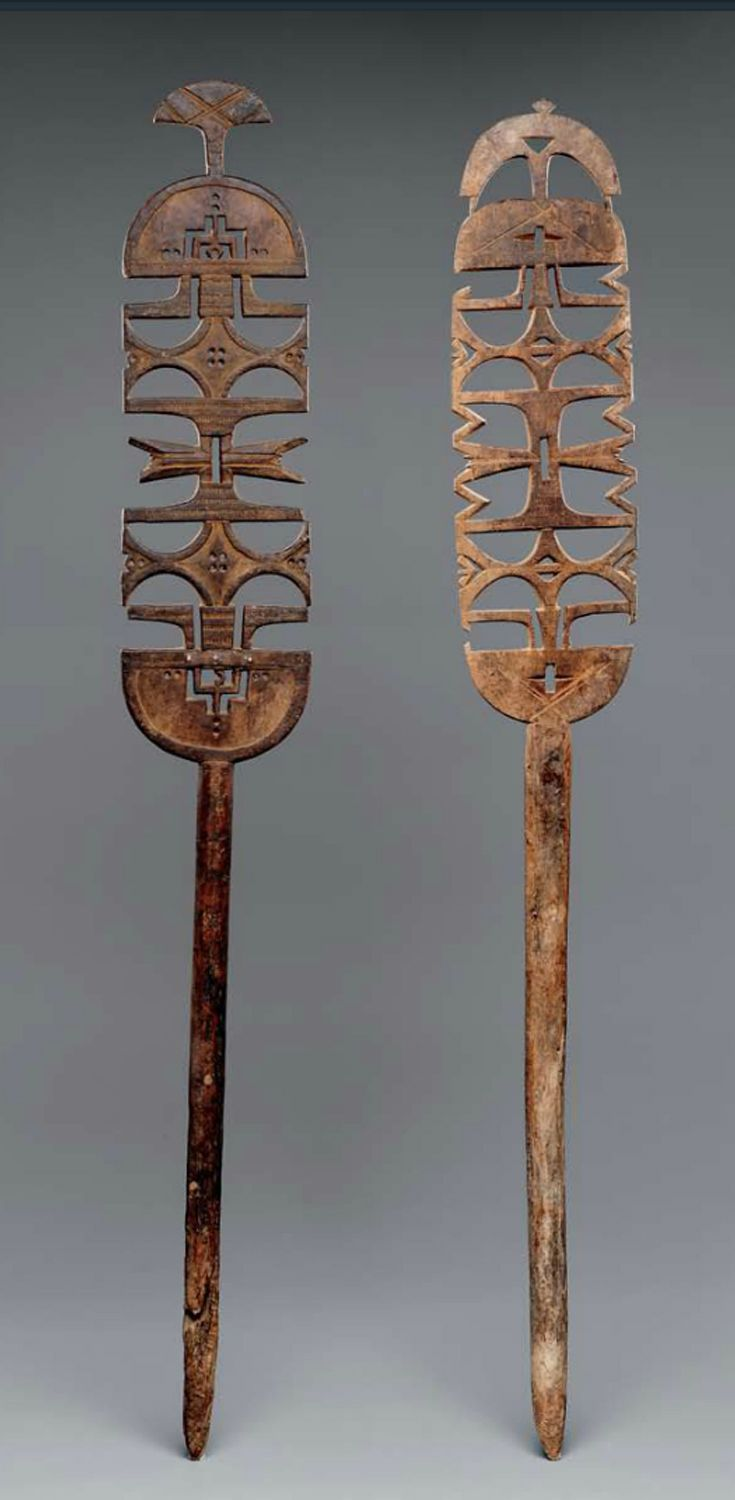 Africa | Tent posts ~ ehel ~ from the Tuareg people of Niger | 20th century | Wood