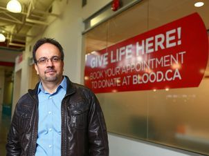 "With loyalty and thanks to Canada, Syrian refugees donate their blood  ""Here, there is a huge hunger among refugees to say thank you in some way for everything that has been done for them. To express their loyalty to this nation."" Sam Nammoura ."