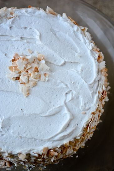 scaling back -vegan carrot cake with whipped coconut cream