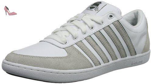 K-Swiss Bigshot Light, Chaussures de tennis femme - Blanc (White/Gull Gray/Magenta), 42 EU