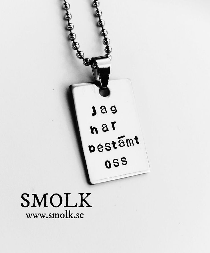 jag har bestämt oss via SMOLK -Handstamped jewelry with a twist. Click on the image to see more!