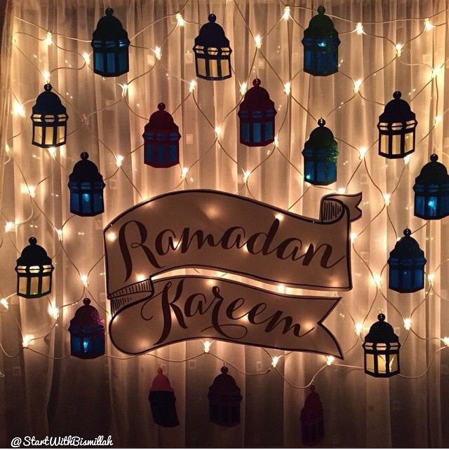 From making paper lanterns to drawing crescent moons and stars on the walls, you can get your house prepared for Ramadan with these Ramadan decorations.