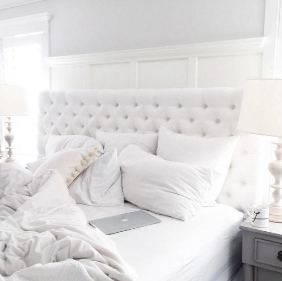 Die besten 25+ White tufted headboards Ideen auf Pinterest Graue - feng shui schlafzimmer bett