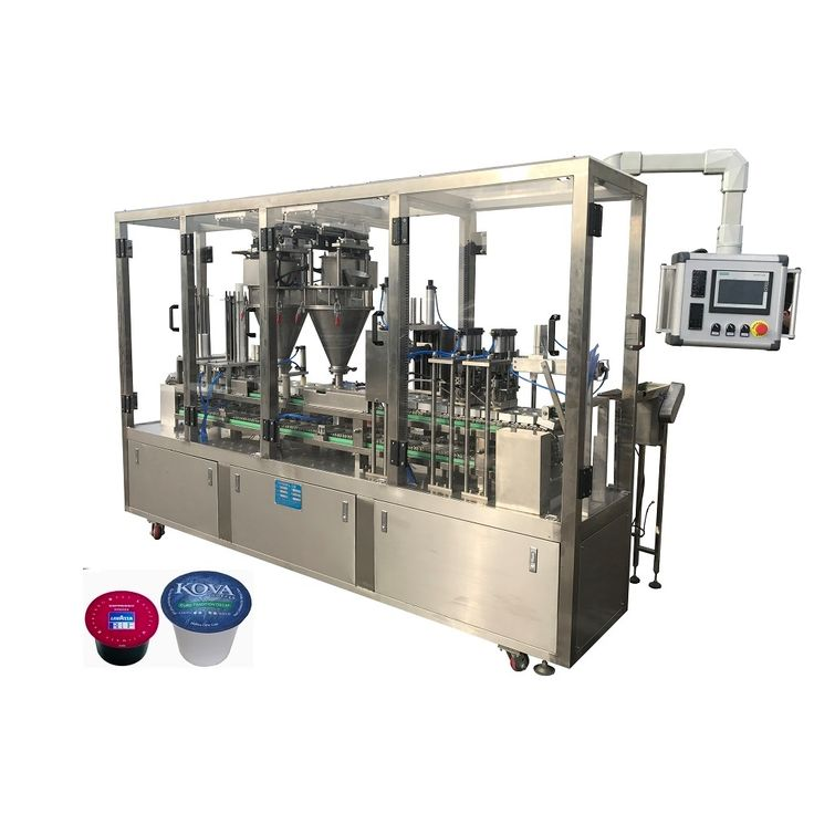Kfp2 automatic coffee capsule filling and sealing machine