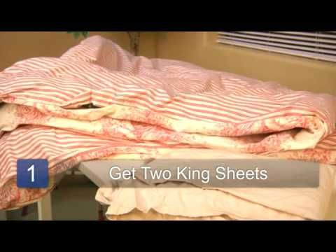 how to make a king size duvet cover