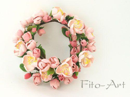 Купить Веночек Цветы яблоньки - венок для волос, украшение невесты, свадебные цветы, цветы на свадьбу