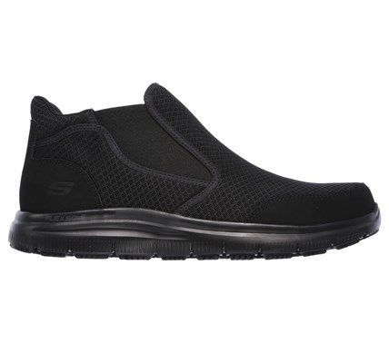 Skechers Work Men's Flex Advantage Lilburne Memory Foam Slip Chelsea Boots (Black) - 10.5 M