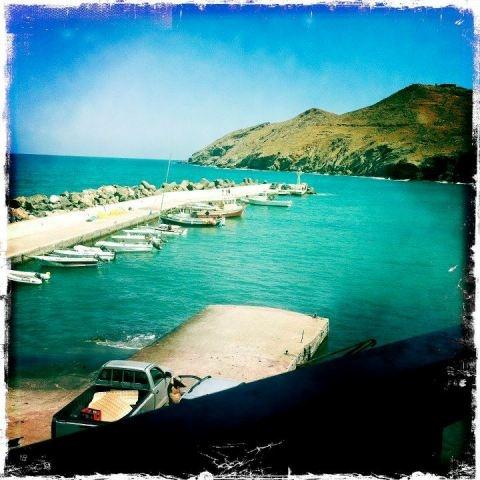 PANORMOS HARBOR IN CRETE ISLAND OF BEAUTIFUL GREECE. #CRETE #PANORMOS # GREECE