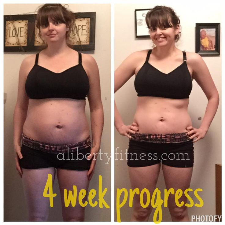 average weight loss one month after birth
