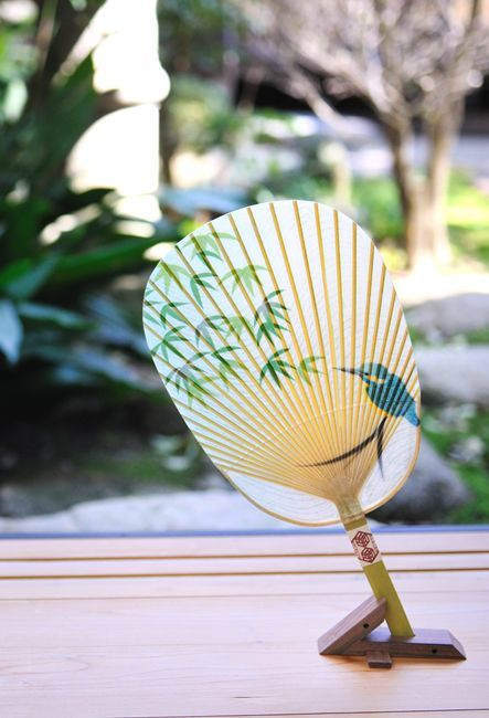 Vintage Hand Held Fan / Becomes Decor