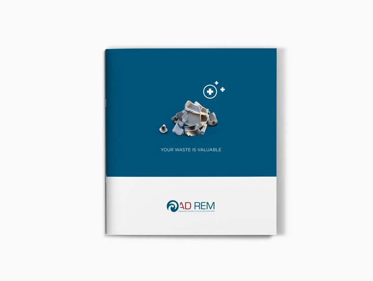 Avondster: cover - ontwerp brochure voor Ad Rem (recyclage industrie) - Avondster: cover - brochure design / lay-out for Ad Rem (recycling industry)