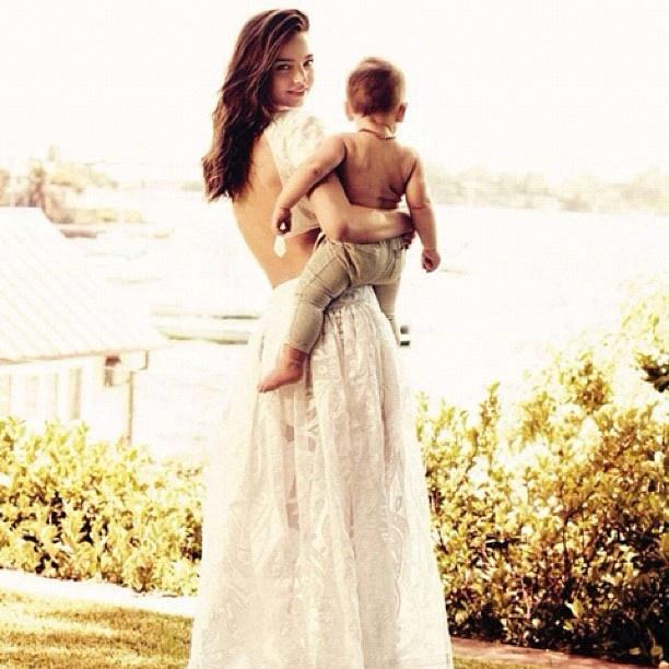 Miranda Kerr & son Flynn wearing Purebaby in British Vogue this month.. #mirandakerr #flynnbloom #britishvogue #purebaby - @purebabyorganic- #webstagram