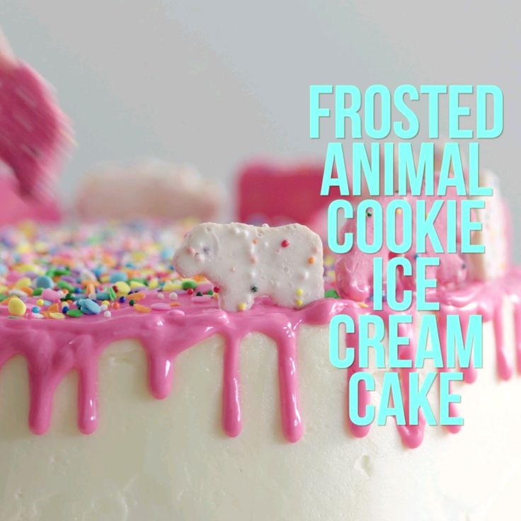 Frosted Animal Cookie Ice Cream Cake