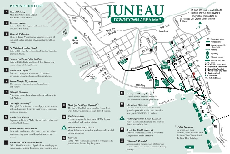 a very good map of dowtown juneau to plan your visit juneau