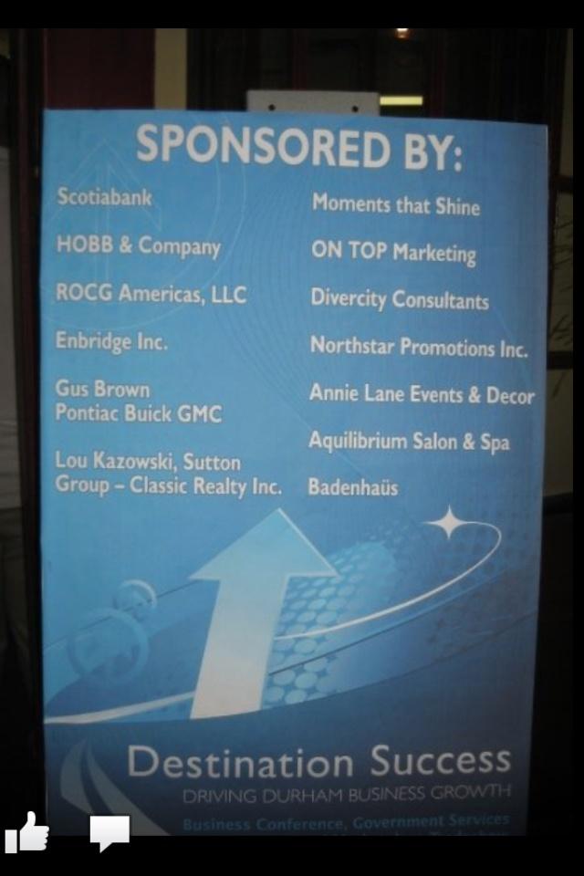 Sponsoring business event