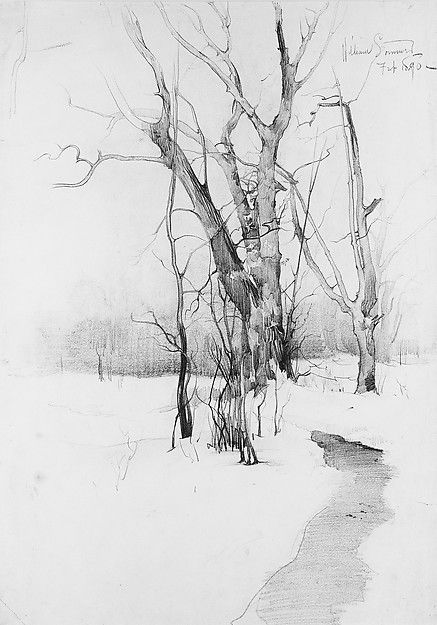 William Sommer (1867–1949). Winter Trees, 1890. The Metropolitan Museum of Art, New York. Gift of Joseph, Elsie, and Connie Erdelac, 1975 (1975.67.2)
