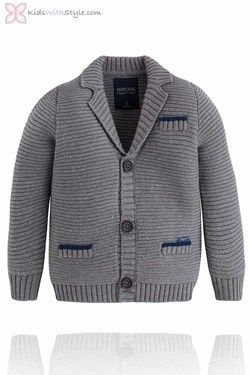 Boy's Chunky Knit Grey Jacket/Cardigan