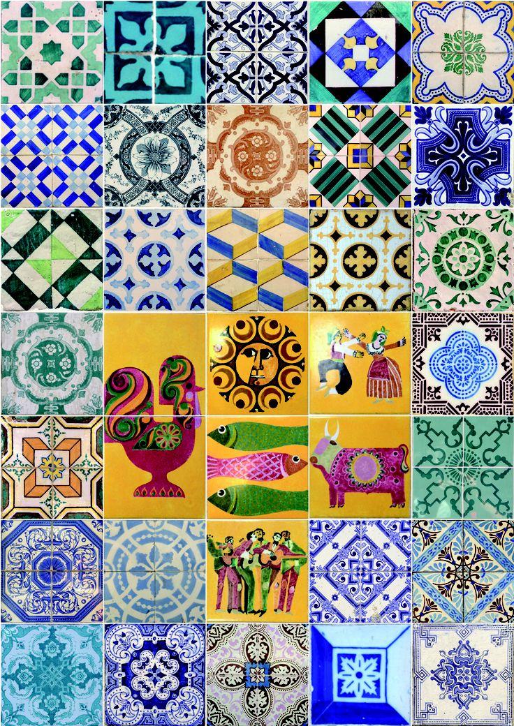 Recopilatorio de azulejos de las fachadas de Lisboa