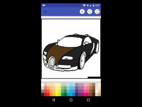 Supercars Coloring Page