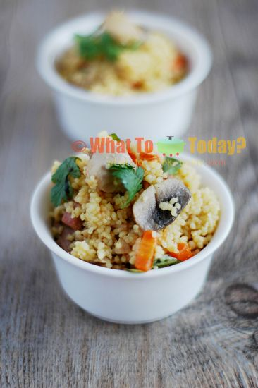 PTITIM CASSEROLE WITH CHICKEN AND VEGETABLES