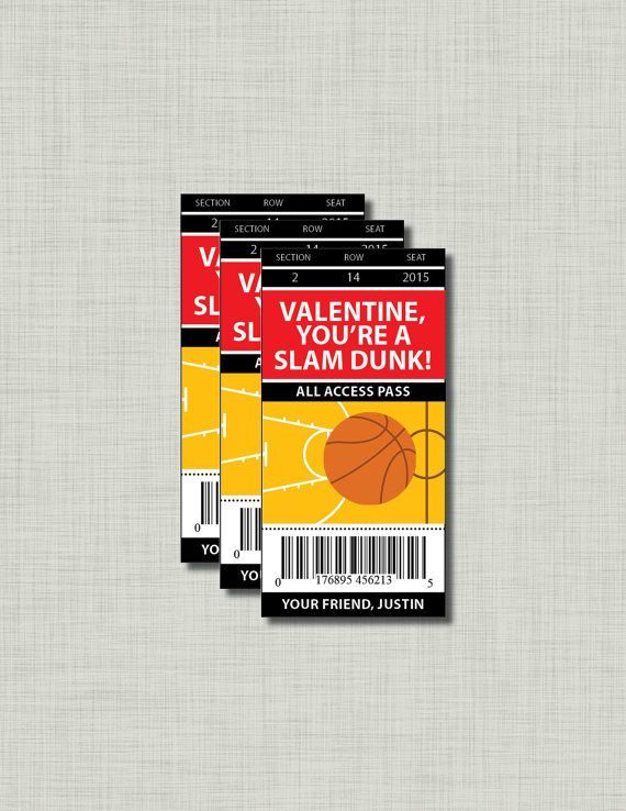 1000 images about bball valentines – Basketball Valentine Cards
