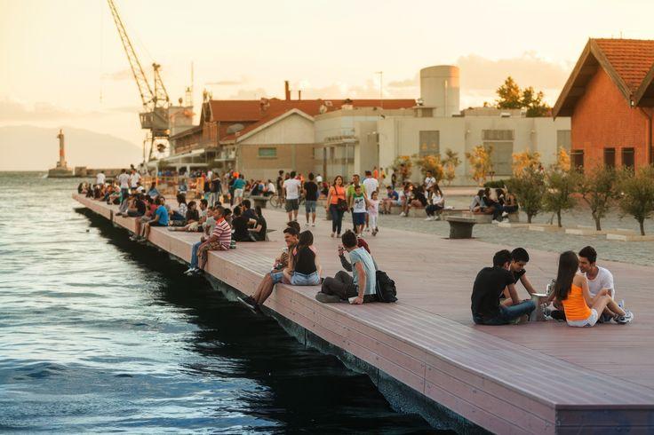 Thessaloniki harbor during the Thessaloniki International Film Festival